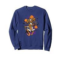 Spider Man And Iron Man Halloween Pumpkins Shirts Sweatshirt Navy