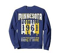 Minnesota 1961 Skyline Throwback Football Shirts Sweatshirt Navy