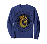 September Girl The Soul Of A Mermaid Tshirt Funny Gift T Shirt Sweatshirt Navy