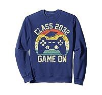 Kindergarten 2019 Class Of 2032 Game On Gamer, Grow With Me Shirts Sweatshirt Navy