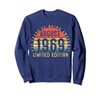Vintage August 1969 Graphic For , Shirts Sweatshirt Navy