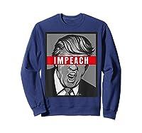 Impeach Trump Not My President Tshirts Sweatshirt Navy