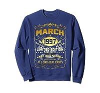 March 1997 Vintage 22nd Birthday 22 Years Old Gif Shirts Sweatshirt Navy
