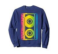 Cassette Tape 80s 90s Vintage Retro Funny Halloween Shirts Sweatshirt Navy