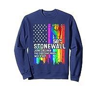 Stonewall Riots 50th Lbgtq Gay Pride American Flag Shirts Sweatshirt Navy