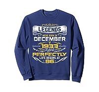 Awesome Legends Born In December 1933 86th Birthday T-shirt Sweatshirt Navy