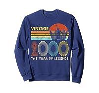 19th Birthday Gift Vintage 2000 T-shirt 19 Years Old T-shirt Sweatshirt Navy
