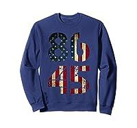 8645 Impeach Trump American Flag T Shirt Sweatshirt Navy