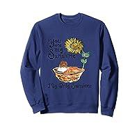 You Are My Sunshine Scotch Collie T Shirt, Sunflower And Sco Sweatshirt Navy