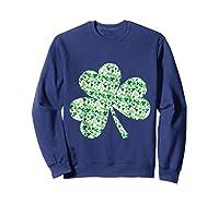 Shamrock T Shirt Saint Patricks Day Sweatshirt Navy