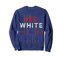Red And Trump Usa Flag 2020 Election Donald Trump Shirts Sweatshirt Navy