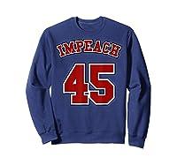 Anti Trump Red And Blue Retro Sports Style Impeach 45 T Shirt Sweatshirt Navy