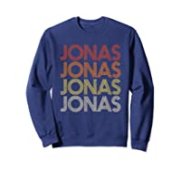 Jonas First Given Name Pride Vintage Style T Shirt Sweatshirt Navy