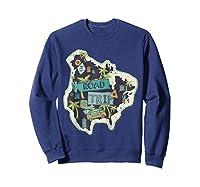 Road Trip 2019 Family Summer Vacation Hippie Van Surf Gift Zip Shirts Sweatshirt Navy
