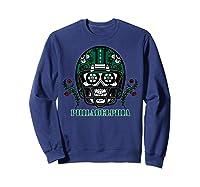 Philadelphia Football Helmet Sugar Skull Day Of The Dead T Shirt Sweatshirt Navy