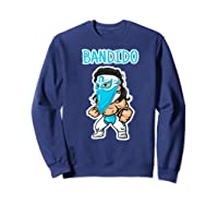 Feel Ink Bandido Bandit Lucha Libre Mexican Pro Wrestler Premium T Shirt Sweatshirt Navy