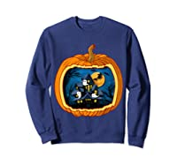 Funny Pumpkin Vintage Halloween Pumpkin Costume Shirts Sweatshirt Navy