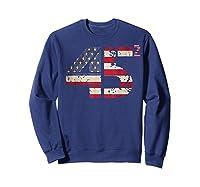 Trump 45 Squared 2020 Second Presidential Term Gift Shirts Sweatshirt Navy