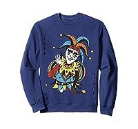 Joker Playing Card Halloween Costume Wild Card Shirts Sweatshirt Navy
