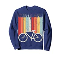 Retro Vintage Cleveland City Cycling Shirt For Cycling Lover Sweatshirt Navy