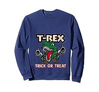 T Rex Arms Trick Or Treat Halloween Shirts Sweatshirt Navy