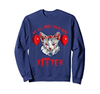 We All Meow Down Here Kitten Halloween Scary Cat T-shirt Sweatshirt Navy