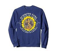 Scorpio Girl The Soul Of A Mermaid Tshirt Birthday Gifts Sweatshirt Navy