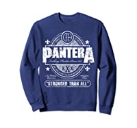 Pantera Stronger Than All Beer Mat Shirts Sweatshirt Navy