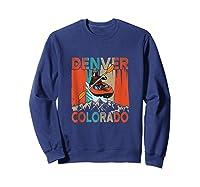 Denver Colorado Water River Rapids Kayaking Shirts Sweatshirt Navy
