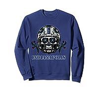 Indianapolis Football Helmet Sugar Skull Day Of The Dead T Shirt Sweatshirt Navy