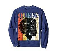 African American Queen T Shirt Black History Urban Soul Tees Sweatshirt Navy