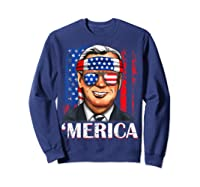 Joe Biden 2020 Merica 4th Of July Independence Day Usa T Shirt Sweatshirt Navy