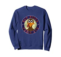 Cool Turkey Eat Pizza Funny Thanksgiving Day T-shirt Sweatshirt Navy