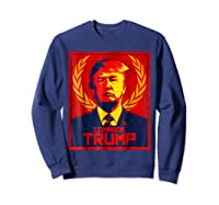 Comrade Trump Protest Resist Impeach Russia Propaganda Shirt Sweatshirt Navy