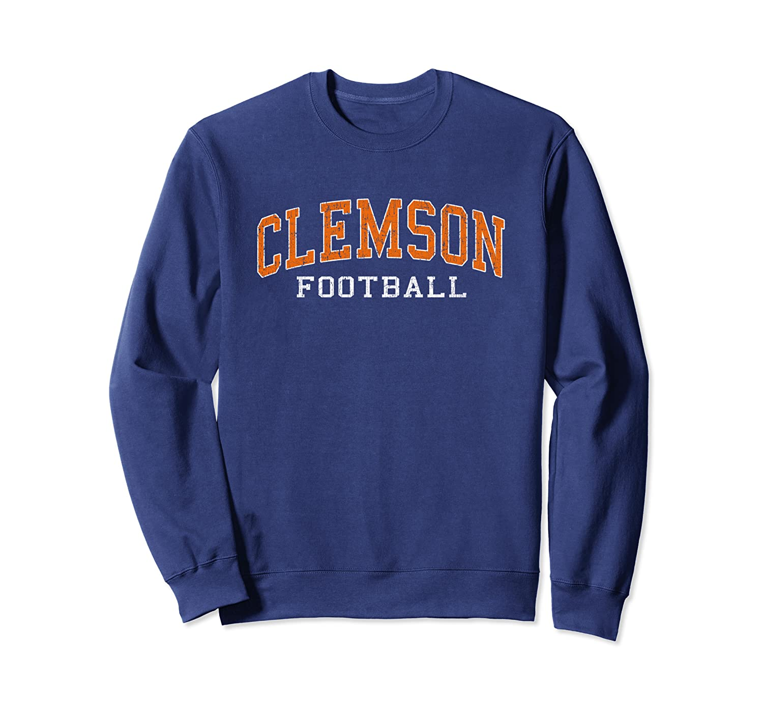 Vintage Clemson Football Distressed Retro Classic Gift Sweatshirt-TH