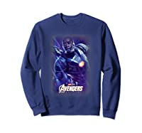 Marvel Avengers Endgame War Machine Galactic Poster T-shirt Sweatshirt Navy
