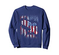 American Flag Eagle For Proud Americans On 4th July Shirts Sweatshirt Navy