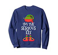I'm The Serious Elf Christmas Xmas Funny Elf Group Costume Shirts Sweatshirt Navy