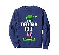 Drunk Elf Matching Family Group Christmas Party Pajama Shirts Sweatshirt Navy