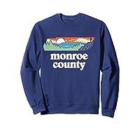 Monroe County Tennessee Outdoors Retro Nature Graphic T Shirt Sweatshirt Navy