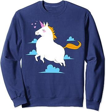 unicornio gordo kawaii Sudadera : Amazon.es: Juguetes y juegos