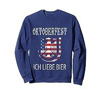 German Eagle Deutschland Us Flag Oktoberfest Shirts Sweatshirt Navy