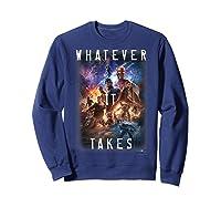 Marvel Avengers Endgame Movie Poster Whatever It Takes T-shirt Sweatshirt Navy