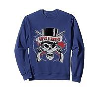 Guns N' Roses Top Hat Skull T-shirt Sweatshirt Navy