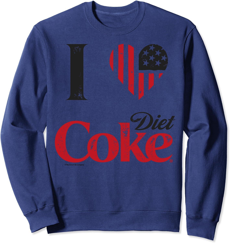 Coca-Cola Vintage Flag Love Sweatshirt 2021 autumn and winter new Coke Diet Sales results No. 1 Graphic