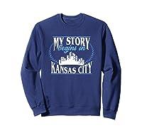 Kansas City Born In Kansas Shirts Sweatshirt Navy