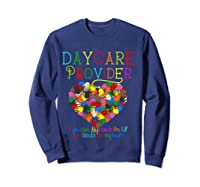 Daycare Provider Tshirt Appreciation Gift Childcare Tea T Shirt Sweatshirt Navy