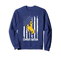 Wing Cow Nation Flag T Shirt Apparel Sweatshirt Navy