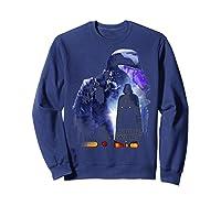 S Darth Vader Shadow Silhouette Shirts Sweatshirt Navy
