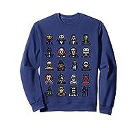 Friends Cartoon Halloween Character Scary Horror Movies T Shirt Sweatshirt Navy
